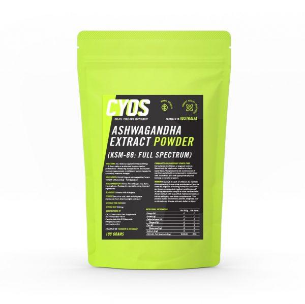 S KSM-66 Organic Ashwagandha Extract 10:1 (5% withanolides) - Full Spectrum