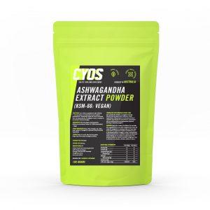 S KSM-66 Organic Ashwagandha (Withania somnifera) Extract 10:1 (5% withanolides) - Vegan